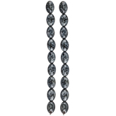 Black & White Swirl Glass Bead Strands
