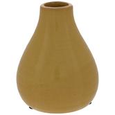 Yellow Round Vase