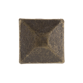 Antique Bronze Faceted Square Metal Knob
