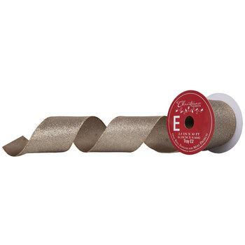 Glitter Wired Edge Ribbon