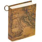 Vintage Map Journal Charm