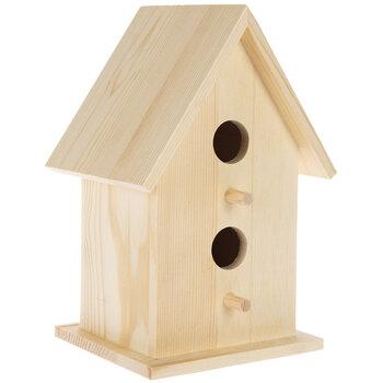 2-Hole Wood Birdhouse