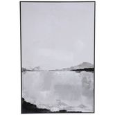 White & Black Abstract Wood Wall Decor