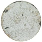 White & Gold Round Metal Knob