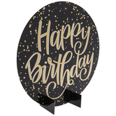 Gold Holographic Happy Birthday Decor