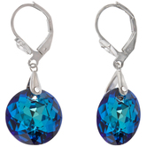Bermuda Blue Faceted Rhinestone Earrings