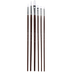 White Nylon All Purpose Paint Brushes - 6 Piece Set