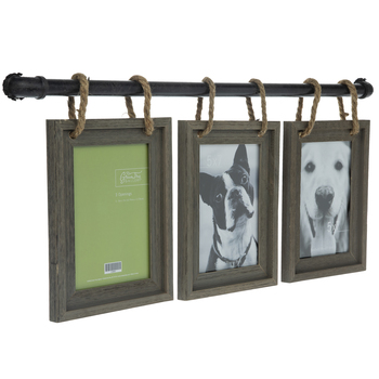Pipe Wood Collage Wall Frame