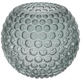 Teal Bubble Glass Vase