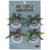 Joy Round Tag Mini Ornaments