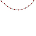Red Rosary Glass Bead Necklace