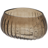 Irregular Ridged Glass Bowl