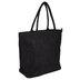 Black Laminated Jute Bag With Zipper