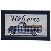 Blue Buffalo Check Truck Welcome Doormat