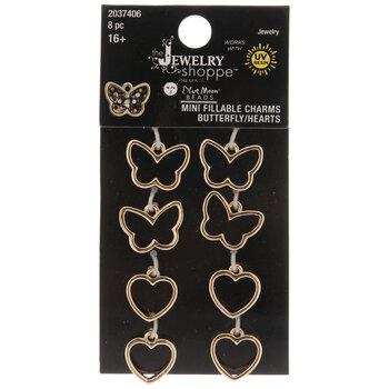 Butterfly & Heart Bezel Charms