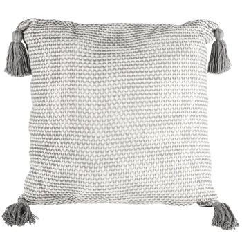 Woven Pillow Cover With Tassels