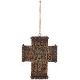 Philippians 4:13 Wall Cross