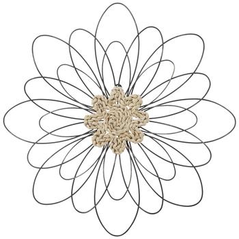 Braided Center Flower Metal Wall Decor
