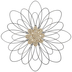 Braided Center Flower Metal Wall Decor - Large