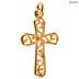 Scroll Cross Charm