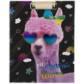 No Drama Llama Clipboard Folder