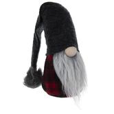 Red & Black Buffalo Check Gnome