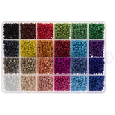 Bright Multi-Color Round Glass Seed Beads