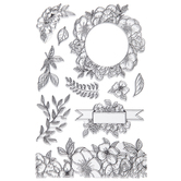 Flowers & Foliage Clear Stamps