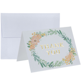 Floral Wreath Thank You Cards