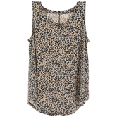Leopard Print Adult Drapey Tank Top