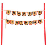 Happy Birthday Lumberjack Cake Banner