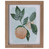 Peach Framed Wall Decor