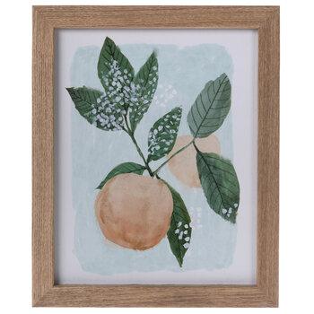 Peach Framed Wall Decor