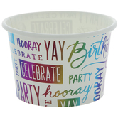 Rainbow Foil Happy Birthday Paper Snack Cups