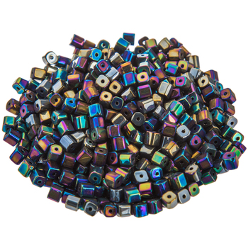 Glass Cube Beads - 3.5mm