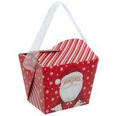 Santa & Snowflakes Take Out Boxes
