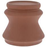 Red Beveled Pedestal Candle Holder - Small