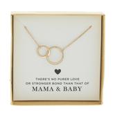 Mama & Baby Circles Necklace