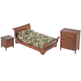Walnut Sleigh Bedroom Furniture