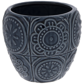 Blue Floral Tile Pot