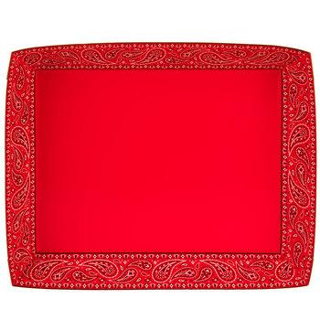 Red Bandana Paper Trays