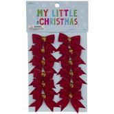 Red Bow Mini Ornaments