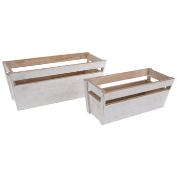 White Wood Crate Set
