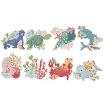 Aquatic Life Watercolor Cutouts