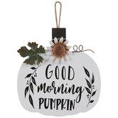 Good Morning Pumpkin Wood Wall Decor