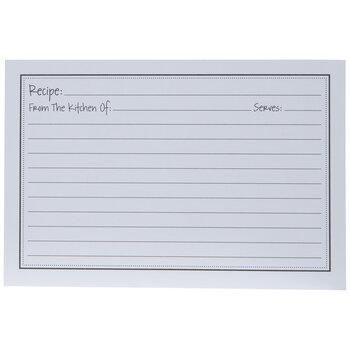 White Recipe Cards