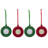 Red & Green Frame Ornaments