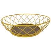 Yellow Round Metal Wire Basket
