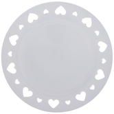 Heart Cutout Plate Charger