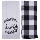 Thankful & Buffalo Check Kitchen Towels